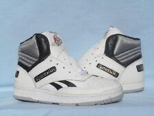 Vintage 1990s Reebok Hoosier Hi Top White/Black/Gold OG DS Size 9
