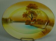 """NORITAKE china TREE IN THE MEADOW pattern Oval Serving Platter @ 11-5/8"""""""