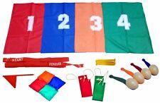 SCHOOL SPORTS DAY SET GAMES EGG & SPOON SACK RACE CHILDRENS OUTDOOR GAME SET