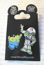 BUZZ LIGHTYEAR & LITTLE GREEN MEN LGM ALIENS - TOY STORY - NEW Disney 2 Pin Set