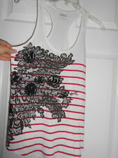 Express Sequined Racer Back T-Shirt Size Small *EUC*