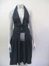 NWT ALEXANDER MCQUEEN MCQ Denim Halter Dress Size 40