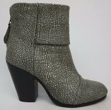 Rag & Bone Newbury Bootie Iron Leather Ankle Boots Leather Size 36 $525+