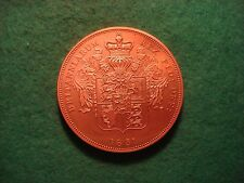 GEORGE IIII IV copper frosted proof piedfort uniface pattern crown 1831