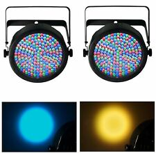 (2) Chauvet SlimPar 64 LED DMX Slim Par Can Stage Pro DJ RGB Lighting Effects