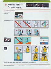 Safetycard brussels airlines Airbus A319-A320, REV_00 / 01/05/2014