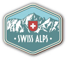 Switzerland Alps Vintage Label Car Bumper Sticker Decal 5'' x 4''