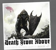 1 magazine promo cd DEATH FROM ABOVE heavy metal black metal