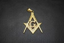 Luxury Gold Classic Freemason Mason Masonic Key Chain Pendant with Necklace TP76