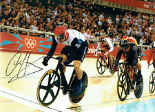 Chris HOY SIGNED Autograph 16x12 Photo AFTAL COA Track Cyclist Gold Medal Winner