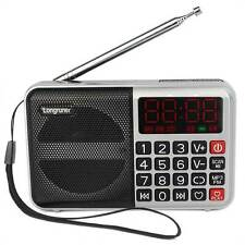 Portable Digital FM Radio Receiver MP3 Player USB Speaker Support 16GB TF card