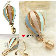 Fashion Crystal Vintage Colorful Fire Balloon Necklace Charm Pendant Long Chain