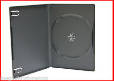 New 18 Pk Premium 9mm Slim Size CD DVD Storage Case Single Black 1 Disc Box