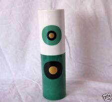 Rare Rosenthal Studio Linie Vase Pop Art grün schwarz gold Porzellan gerade 22,5