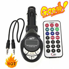 Hot 4in1 Car MP3 Player Wireless FM Transmitter Modulator USB CD MMC Remote