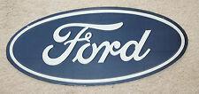 """Ford Dealership Oval Emblem Metal Embossed Signs  Garage Decor 9"""" x 20"""" Man Cave"""