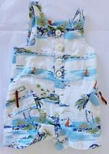 OLD NAVY BABY BOY ISLAND BOAT OVERALLS 0-3 MONTHS