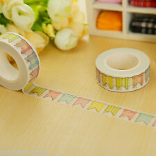 Colorful Flags Washi Tape DIY Paper Sticky Scrapbooking Tools Adhesive Sticker