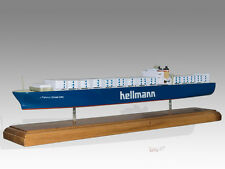 Hellmann Tanker Solid Kiln Dried Mahogany Wood Handmade Boat Ship Model