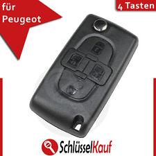 Peugeot 4 Tasten Klappschlüssel Gehäuse Partner Ranch 107 407 1007 Rohling Neu