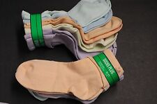 5Pairs WOMEN'S 9-11 MULTI  COLOR ANKLE BOBBIE T CUFF CASUAL SOCKS Crew STRETCH