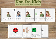 Social Story Cards - Coughing When I'm Sick / Hygiene - Autism
