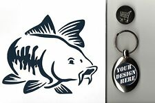 Trolley Coin Keyring Carp Fish