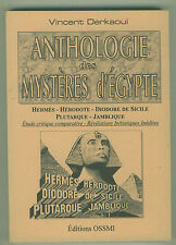 Anthologie des mystères d'Egypte Hérodote Diodore Derkaoui voir sommaire livre