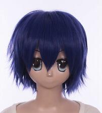 W-555 Date A Live Shido Itsuka blau blue 30cm kurz Cosplay Perücke Wig Anime