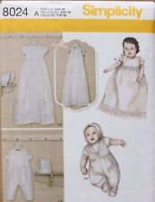 Baby/Infant CHRISTENING BLESSING DRESS-ROMPER Simplicity Pattern 8024 NEW XXS-M
