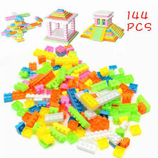 144pcs Baby Kids Plastic Building Block Bricks Early Educational Puzzle Toy Gift