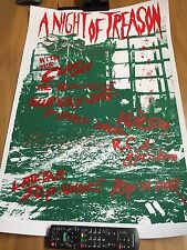 "THE CLASH Signed Print ""Night Of Treason"" 1976 Punk Gig poster with Subway Sect"