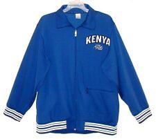 Sz XL Men's Track Jacket KENYA by NIKE AIR Royal Blue & White Poly/Cotton