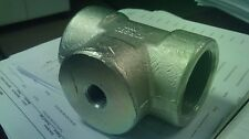 "2"" X 2"" X 1/2"" FORGED STEEL PLATED 3000# THREADED TEE"