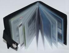New Flip Design Black Soft Leather Mens Gents Debit Credit ID Card Holder Wallet