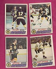 1977-78 OPC BRUINS DOAK + EDESTRAND + SCHMAUTZ + SMITH  CARD  (INV# 9840)