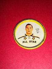 1962-63 Shirriff/Salada Coins #49 Glenn Hall Chicago Black Hawks Vintage
