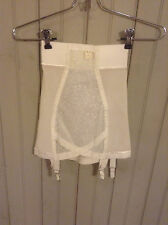 New w Tags Vintage white Best Form open Bottom girdle w/ garters sz sm
