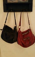 Fossil leather shoulder bag handbag set of 2