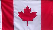 NYLON SEWN CANADIAN MAPLE LEAF FLAG - DOUBLE SIDED RED & WHITE CANADA