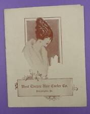 West Electric Hair Curler Company - Original Early Advertising Products Booklet