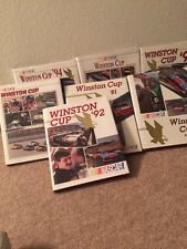 Nice Lot Of 7 Winston Cup Hardcover NASCAR Yearbooks 1990-96