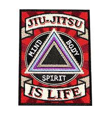 Jiu Jitsu BJJ Gi Patch JIU-JITSU IS LIFE Jiu Jitsu Gift IRON-ON Stocking Stuffer