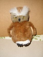 CASCADE TOY Great Horned Owl Soft Plush Stuffed Animal Toy 6'' EXCELLENT