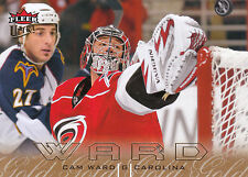 09/10 FLEER ULTRA GOLD MEDALLION #28 CAM WARD HURRICANES *3585