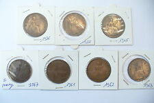 """SERIE   """" ONE PENNY""""  MONNAIE ANGLAISE SOUS BLISTER - 7 DATES -  !!!!"""