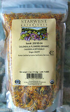 4oz Calendula/Marygold Flowers Whole -Juvenile Acne,Dry Psoriasis,Stomach Ulcers
