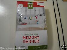 New !  Christmas Holiday Makes1 Creat you Own memory Banner JOY Party Activities