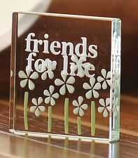 Spaceform Friends For Life Glass Birthday Gift Ideas Friends Her Friendship 0526