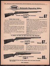 1961 STEVENS Model 87 Rifle, 87-K & 85K Carbine AD